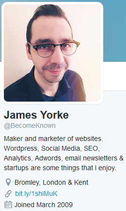 Twitter Profile James Yorke